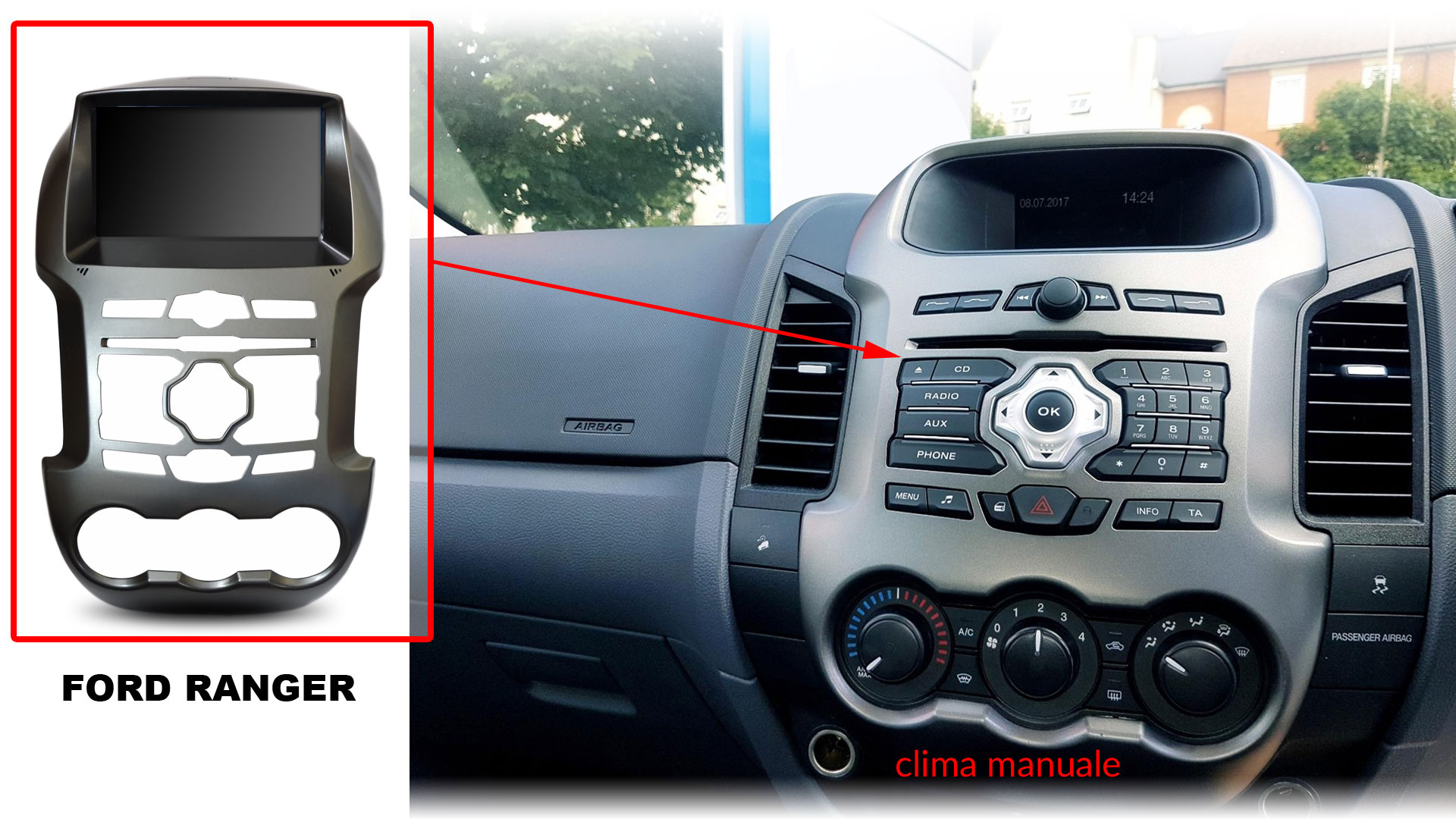 autoradio multimediale per Ford Ranger