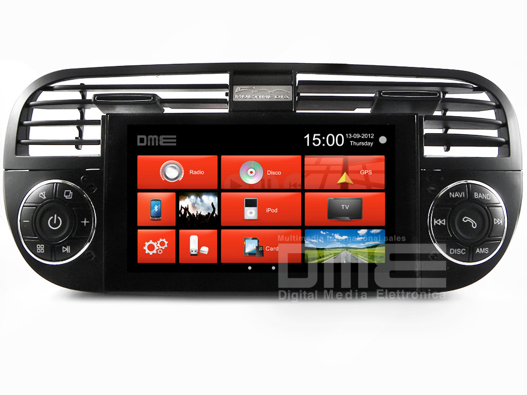 sonstiges fiat 500 autoradio 6 2 touchscreen dvd gps navi. Black Bedroom Furniture Sets. Home Design Ideas
