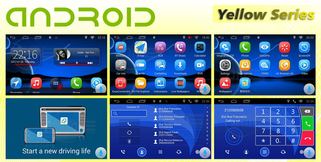 interfaccia multimediale yellow series