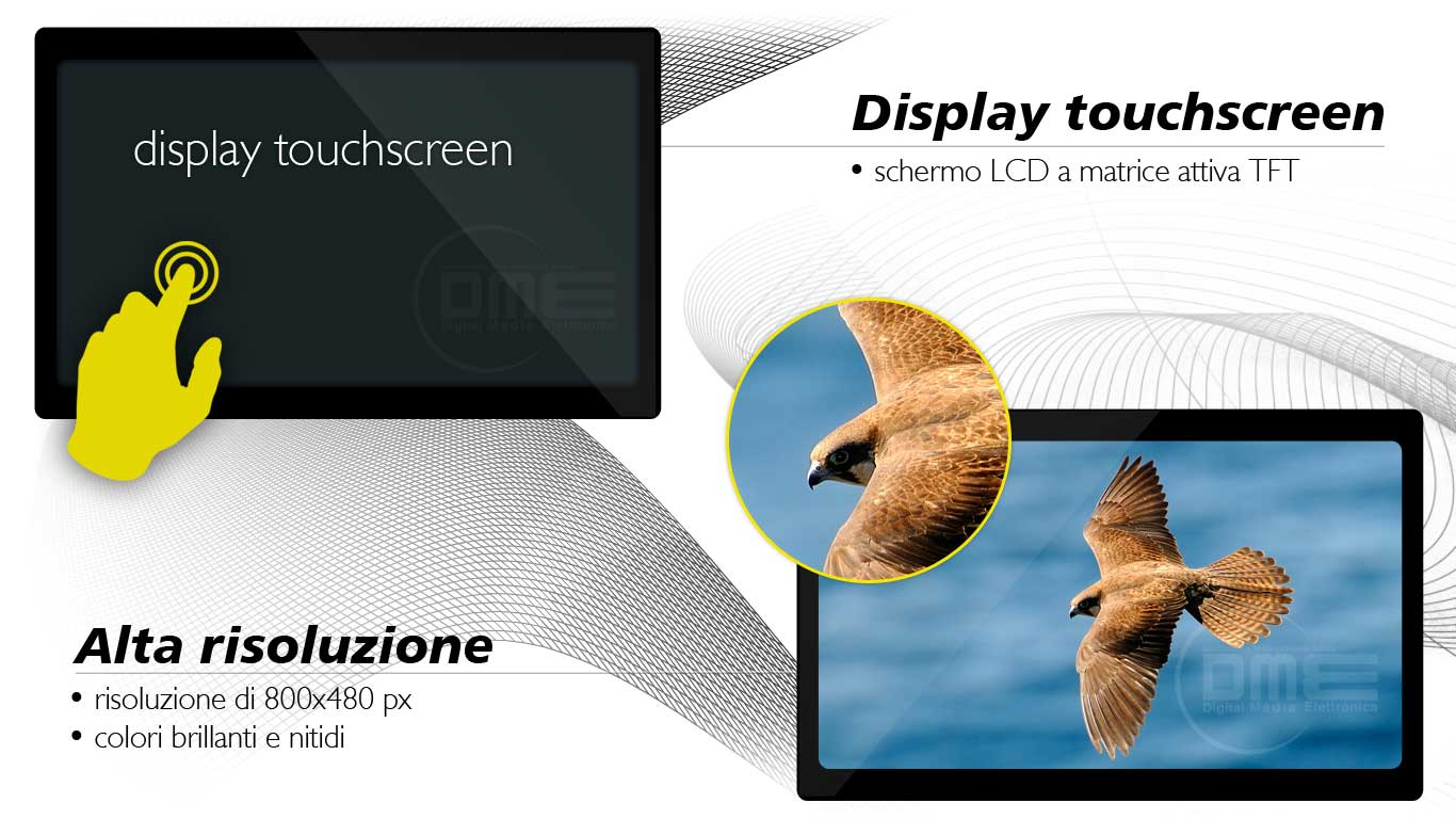 autoradio con display touchscreen