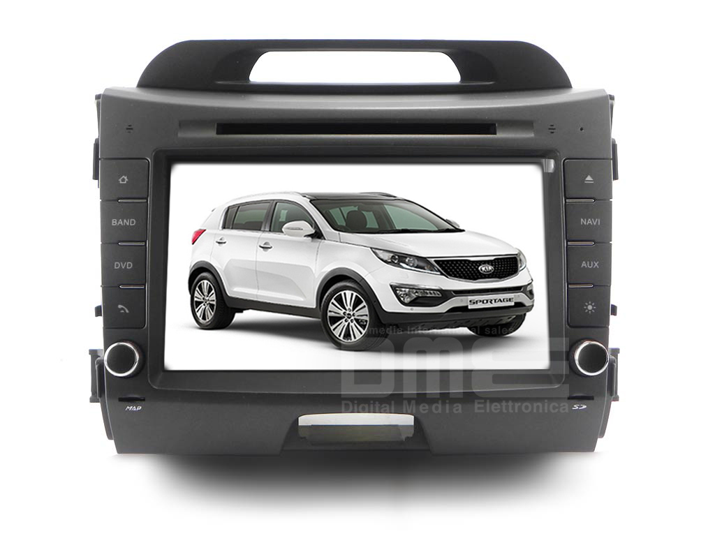 "Autoradio Kia Sportage 8"" Full HD Touch DVD GPS VCDC Video1080p USB SD BT Wifi"