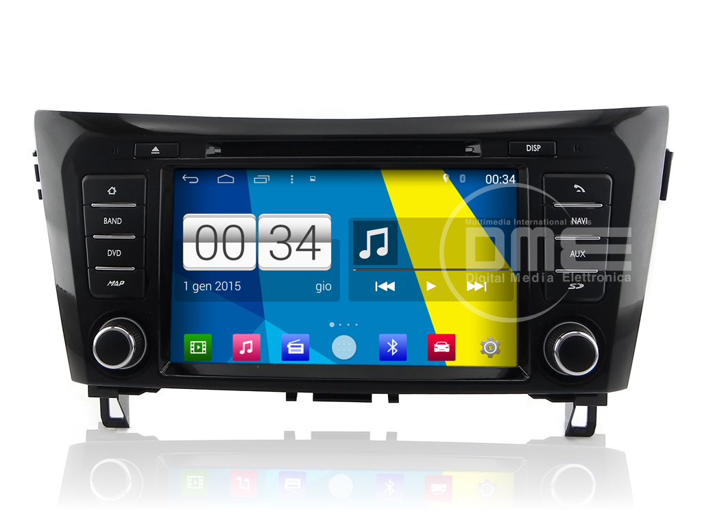 "Autoradio Nissan Qashqai X-Trail 2014 7"" Android 4.4 HD Touch DVD GPS VCDC USB SD BT WIFI 3G"