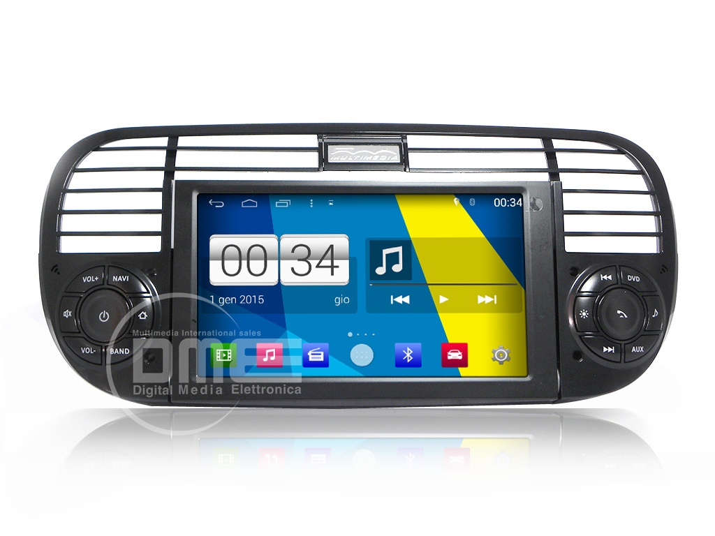 "Autoradio Fiat 500 Cinquecento Android 4.4 6,2"" Touch DVD GPS NAVI USB SD WIFI"