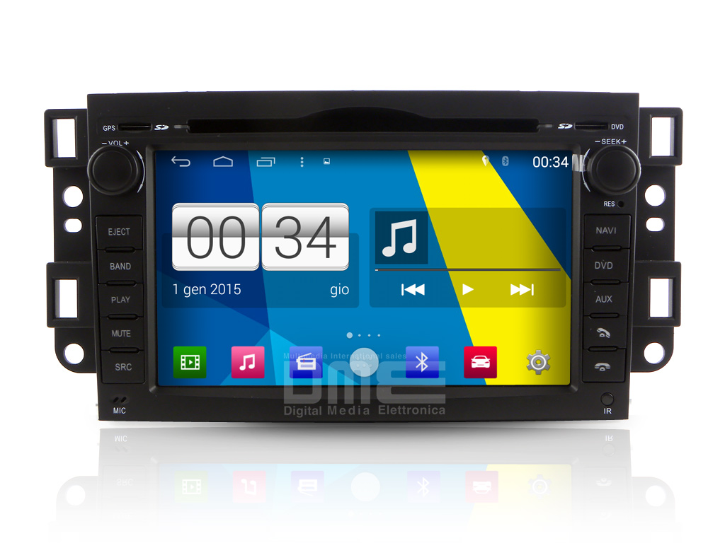 "Autoradio Chevrolet Captiva Aveo Epica Spark Android 4.4 Touch 8"" DVD GPS Wifi"