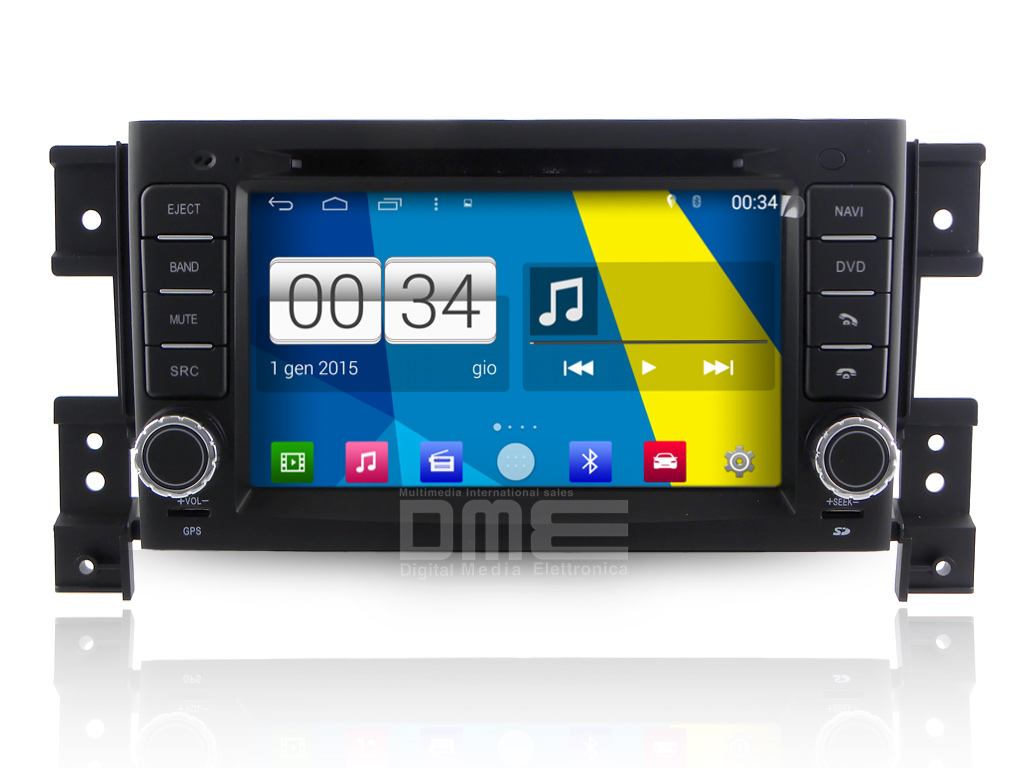 "Autoradio Suzuki Grand Vitara Android 4.4 Touchscreen 7"" HD DVD Navi GPS BT USB"