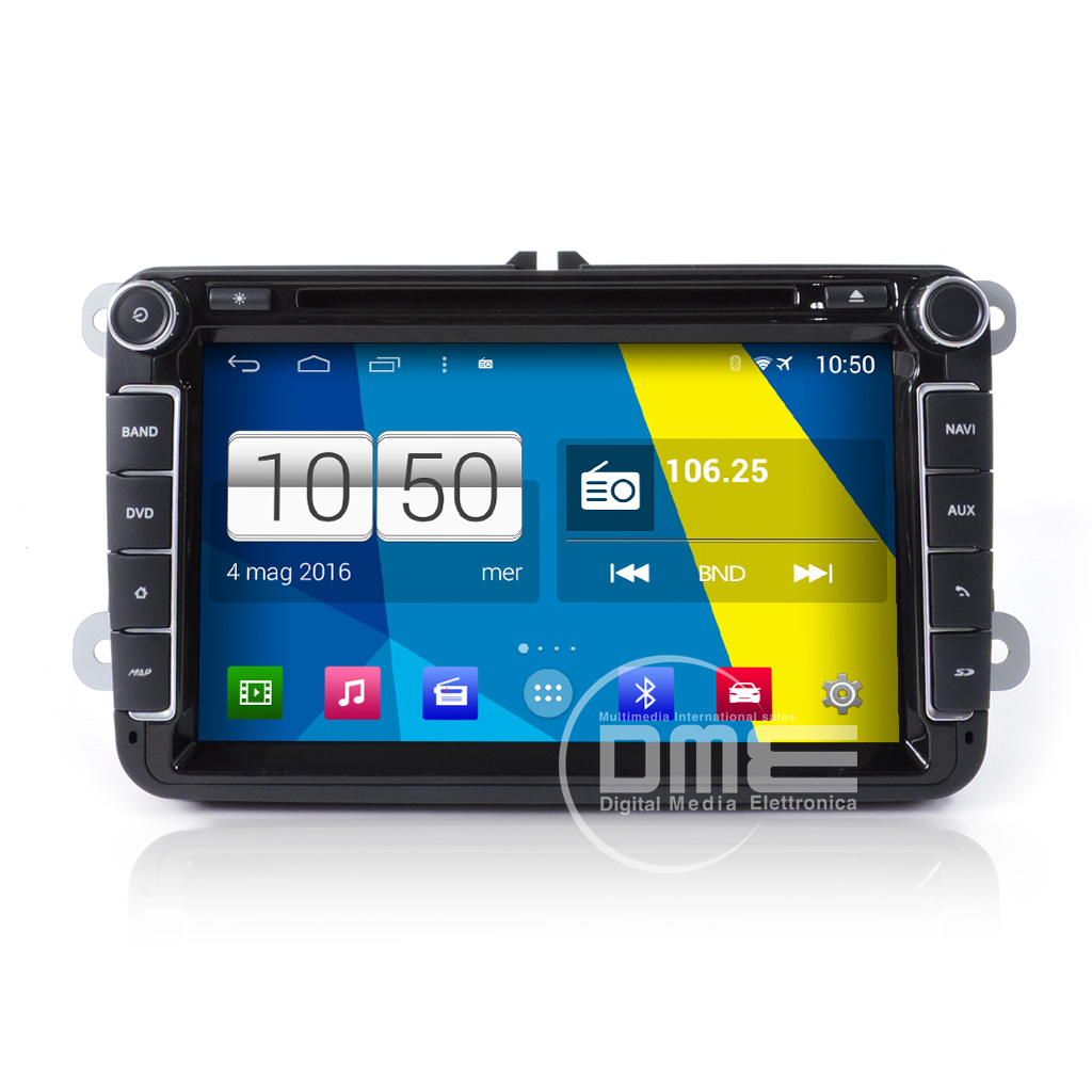 "VW GOLF 5 6 V VI Seat Skoda Android 4.4 Autoradio 8"" HD Touch DVD Navi GPS BT SD"