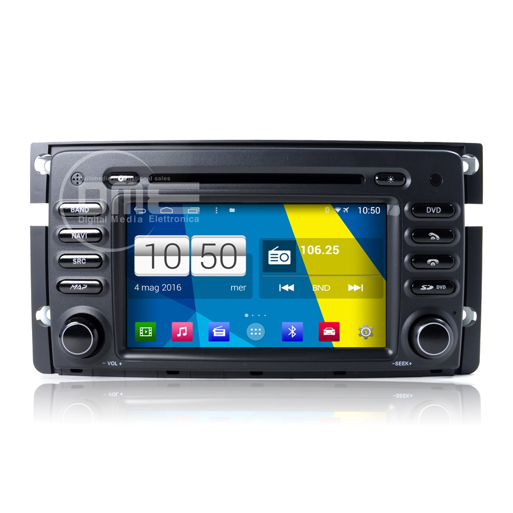 "Autoradio Smart For two Android 4.4 Touch 7"" HD DVD Navi GPS BT USB 1080p Wifi"