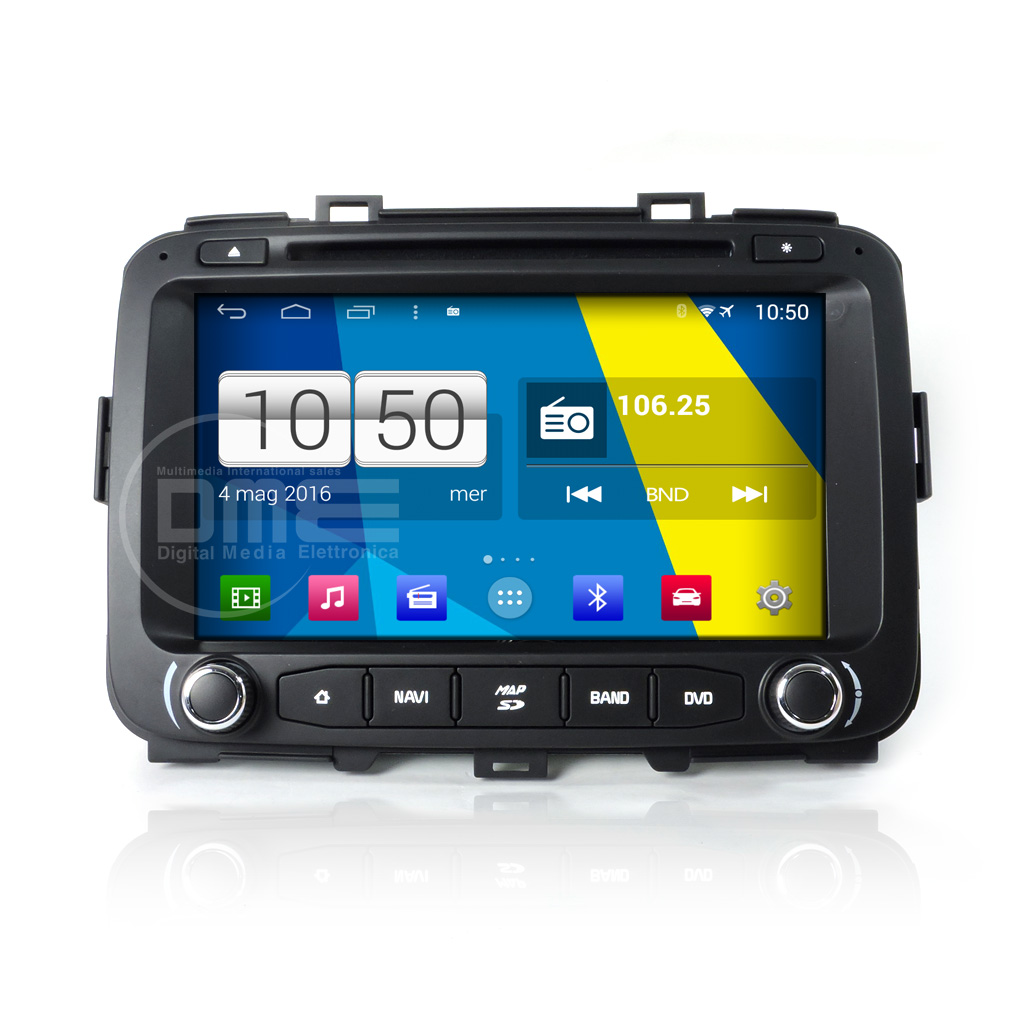 "Autoradio Kia Carens da 2013 Android 4.4 Touch 8"" DVD GPS Navi USB SD BT WiFi"