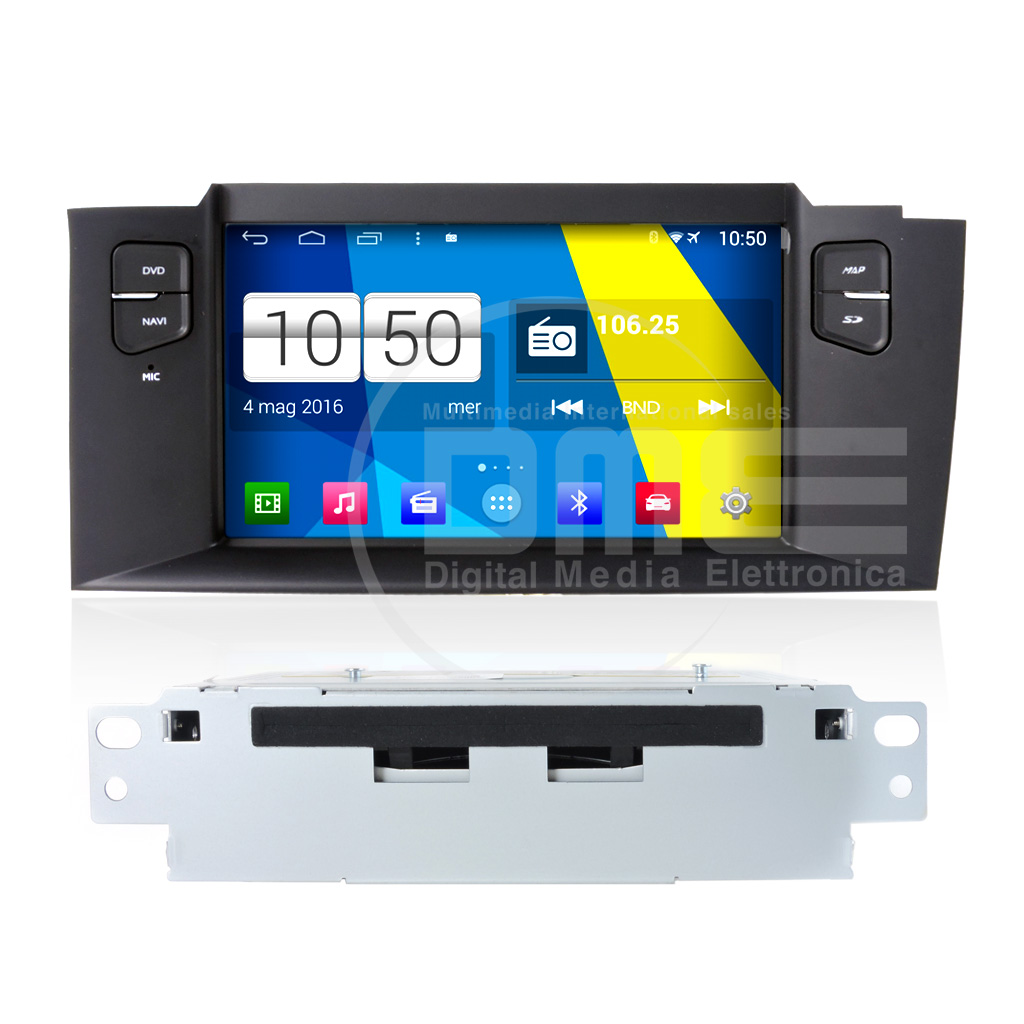 "Autoradio CITROEN C4 2013 7"" Android 4.4 Touch 7"" HD DVD Navi GPS BT USB SD Wifi"