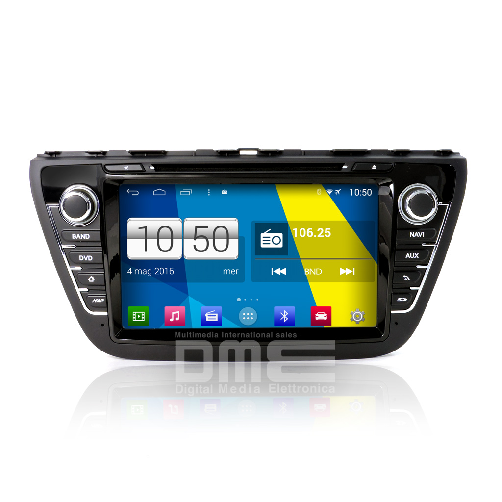 "Autoradio SUZUKI S-Cross Android 4.4 Touch 8"" Full HD DVD GPS Navi USB SD WiFi"
