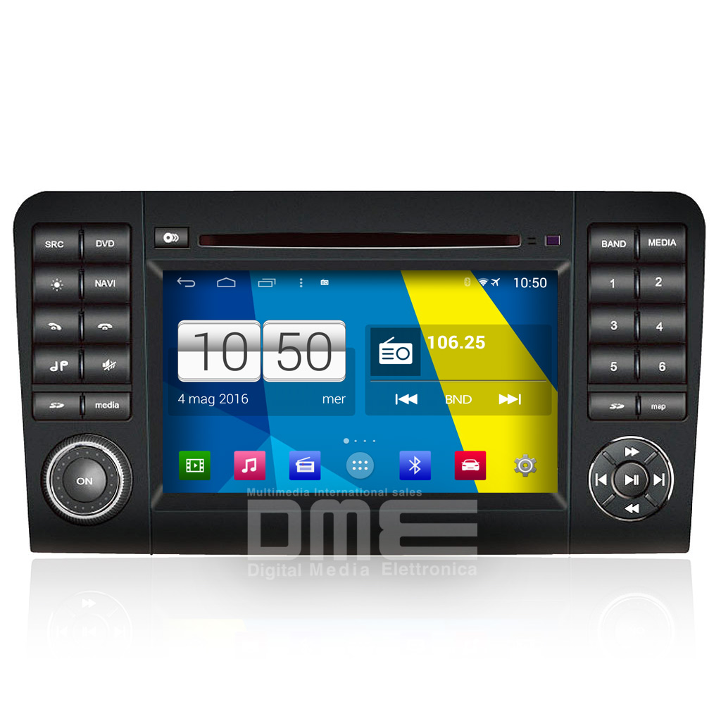 "Autoradio Mercedes W164 ML GL Android 4.4 Touch 7"" HD DVD Navi BT USB SD Wifi"