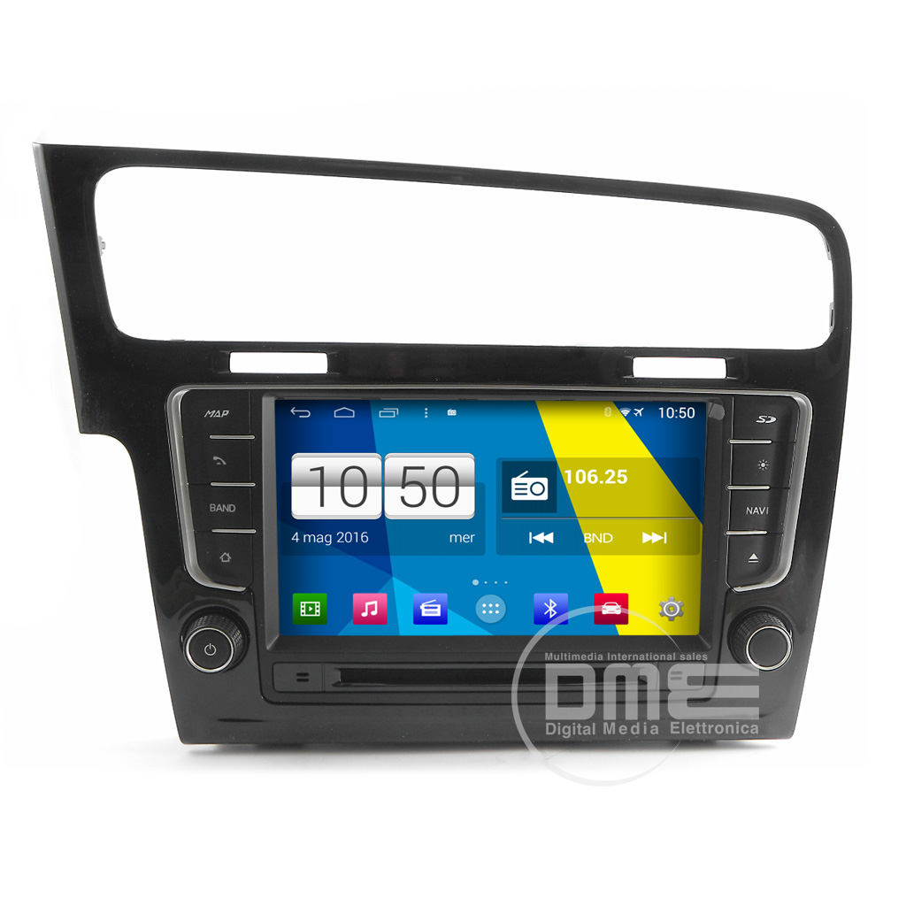 "Autoradio Android 8.0 VW Golf VII 7 2013 10"" HD Touch DVD Navi GPS BT USB SD Wifi S200"