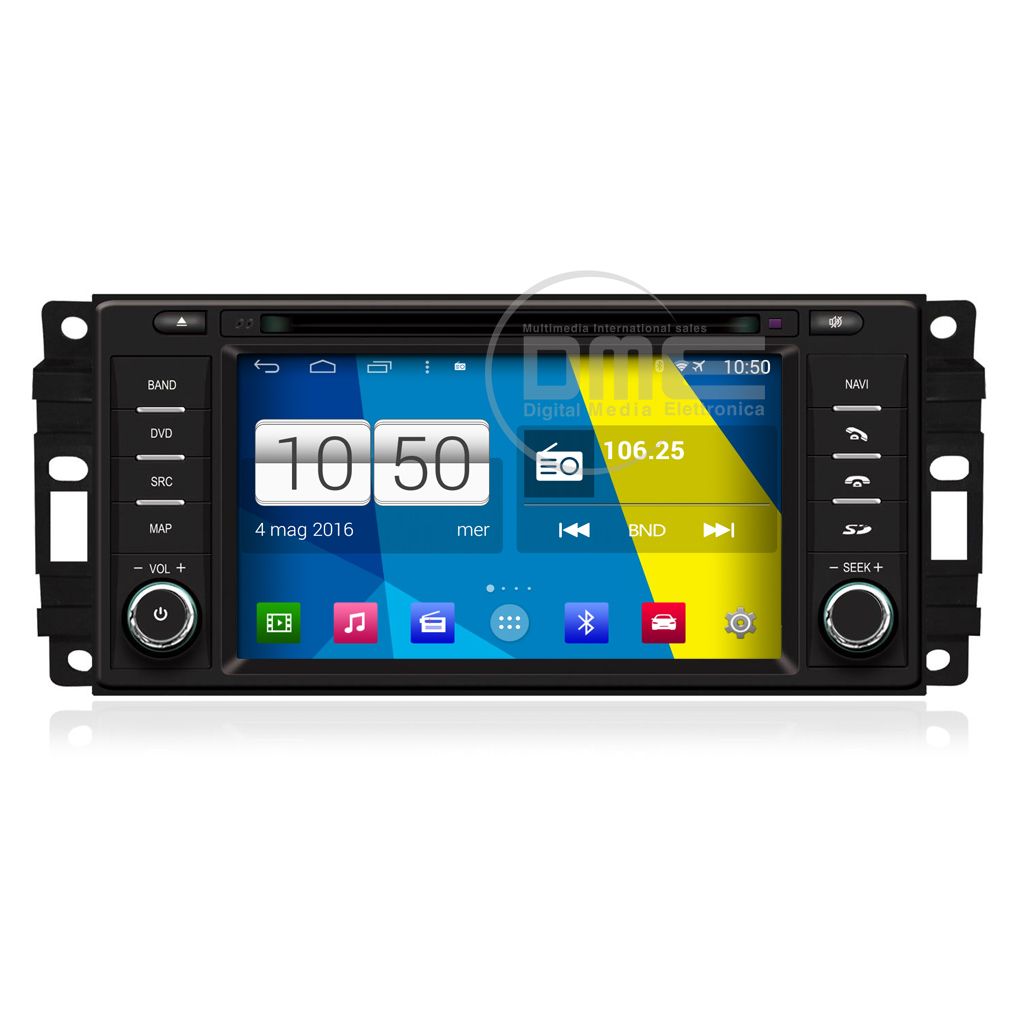 "Autoradio Chrysler Dodge Jeep Android 4.4 Touch 6,2"" HD DVD Navi GPS BT USB Wifi"