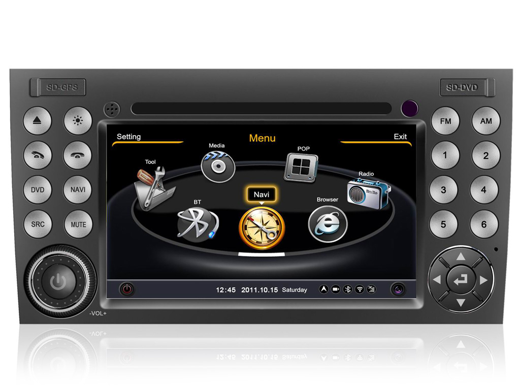 "Mercedes SLK R171 W171 Autoradio 7"" HD Touch DVD GPS VCDC USB SD BT WIFI 3G 1080"