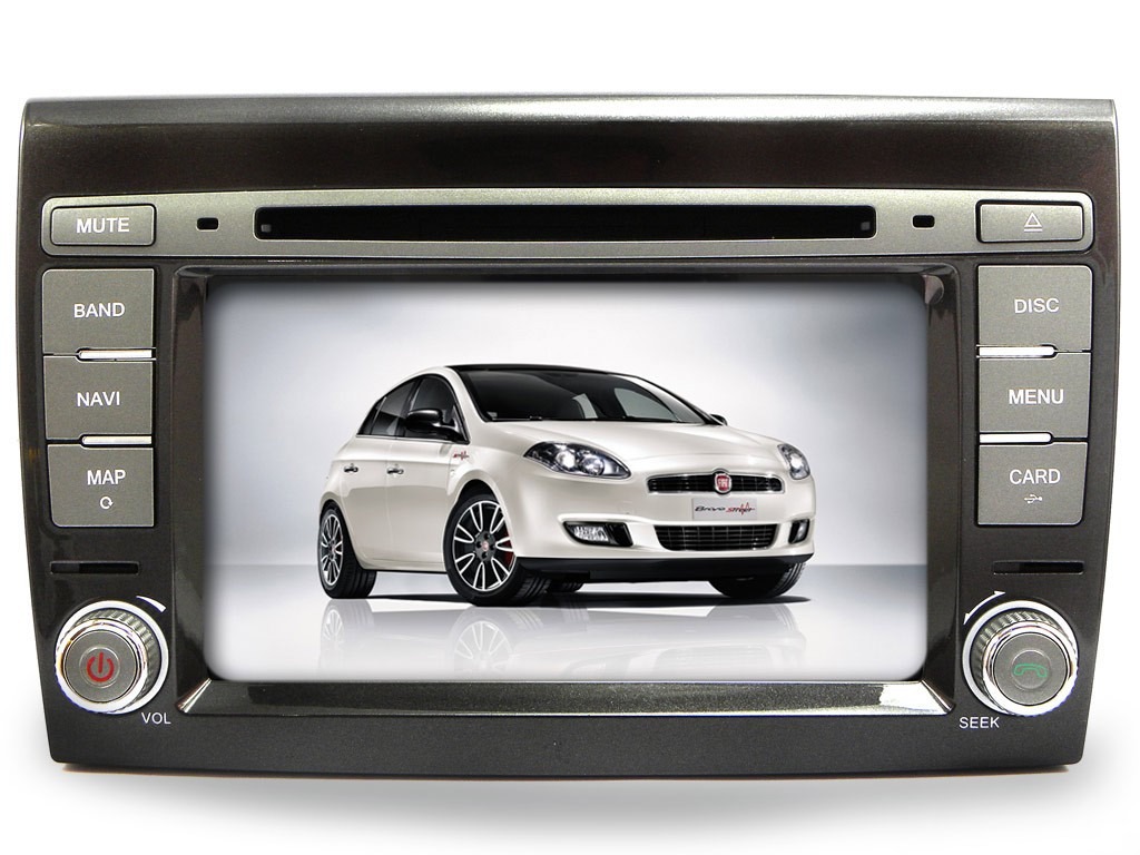 Fiat Bravo Autoradio 7'' HD Touchscreen BT DVD MP3 GPS Navigatore USB SD Blu Me