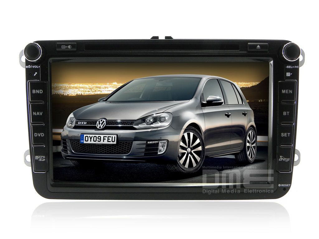 "VW GOLF 5 6 V VI Seat Skoda Autoradio 8"" HD Touchscreen DVD MP3 GPS Navi USB SD"