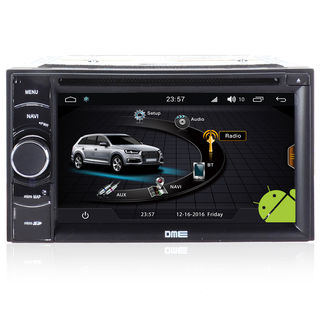 "Autoradio Doppio 2 din Android 4core 6.2"" HD Touch DVD GPS BT ML WIFI S170"