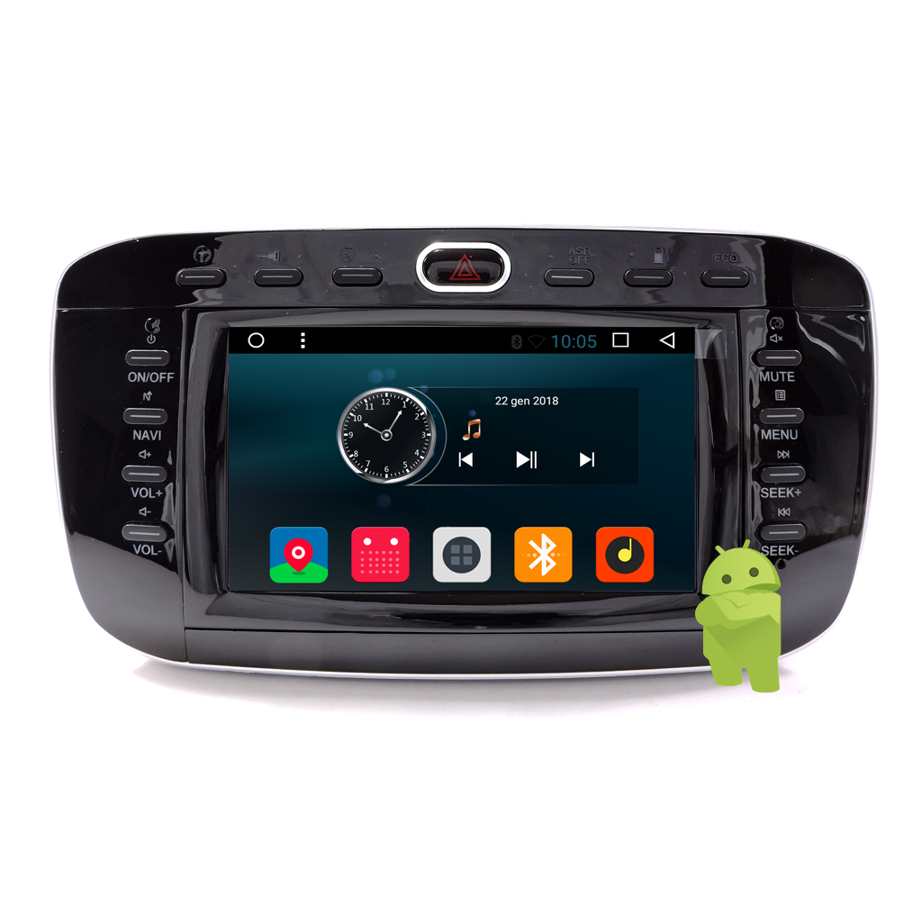 "Autoradio ANDROID 6.0 Fiat Punto Evo 6.2"" Touch GPS Navi USB Blue Me MirrorLink"