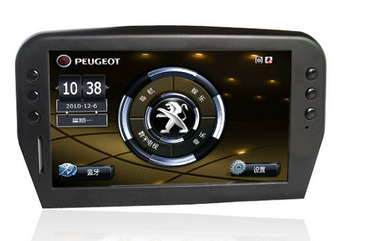 "Peugeot 207 Autoradio 7"" LCD HD Touchscreen USB Mp4 Mp3 Navigatore GPS BT PIP"