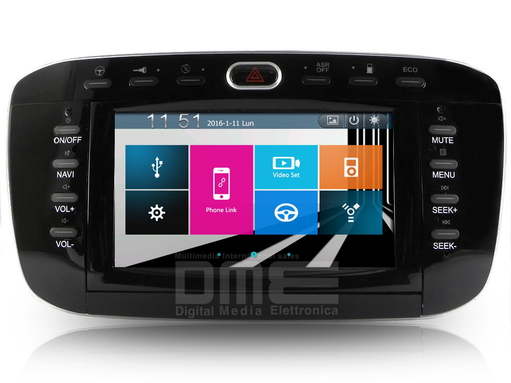 "Autoradio Fiat Punto Evo 6.2"" Touch DVD GPS Navi USB SD Blue and Me MirrorLink"