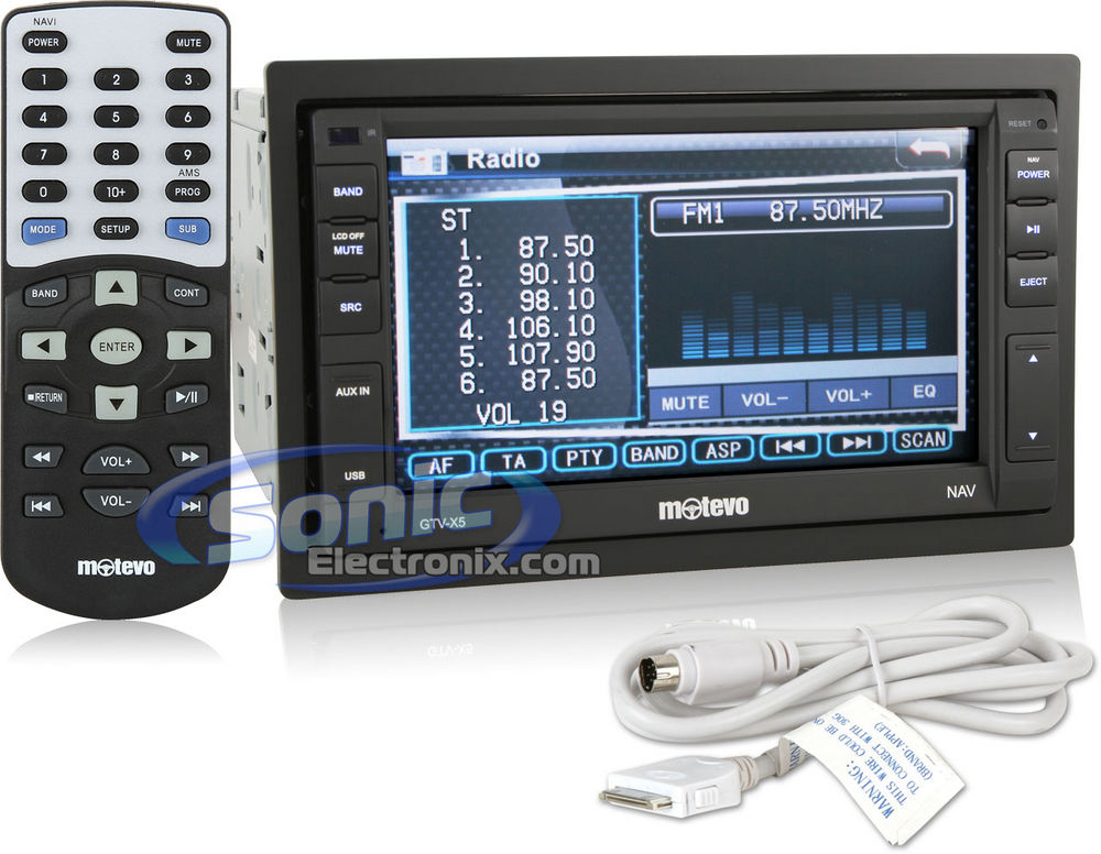 Autoradio motorizzato 6.2'' Touch CD/DVD/USB/MP3 Navigatore GPS Bluetooth 50x4W