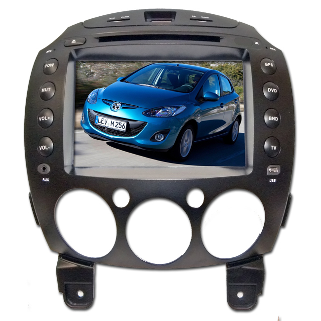"Mazda 2 Car Radio Autoradio 8"" Lcd touchscreen DVD BT Navigatore GPS USB SD iPod"