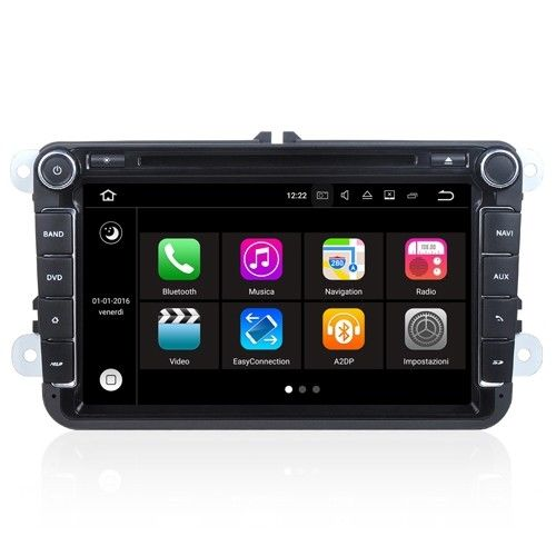 "Autoradio VW GOLF 5 6 V VI Seat Skoda Android 7.1 Touch 8"" HD DVD Navi GPS S190"