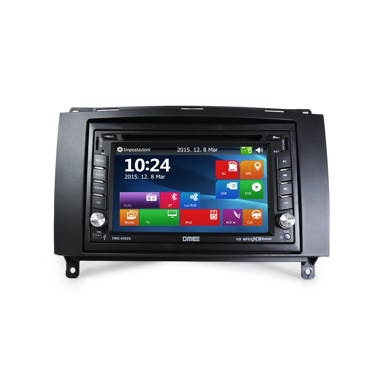 MASCHERINA DR5 2 DIN PER INSTALLAZIONE AUTORADIO MONITOR NAVIGATORI GPS
