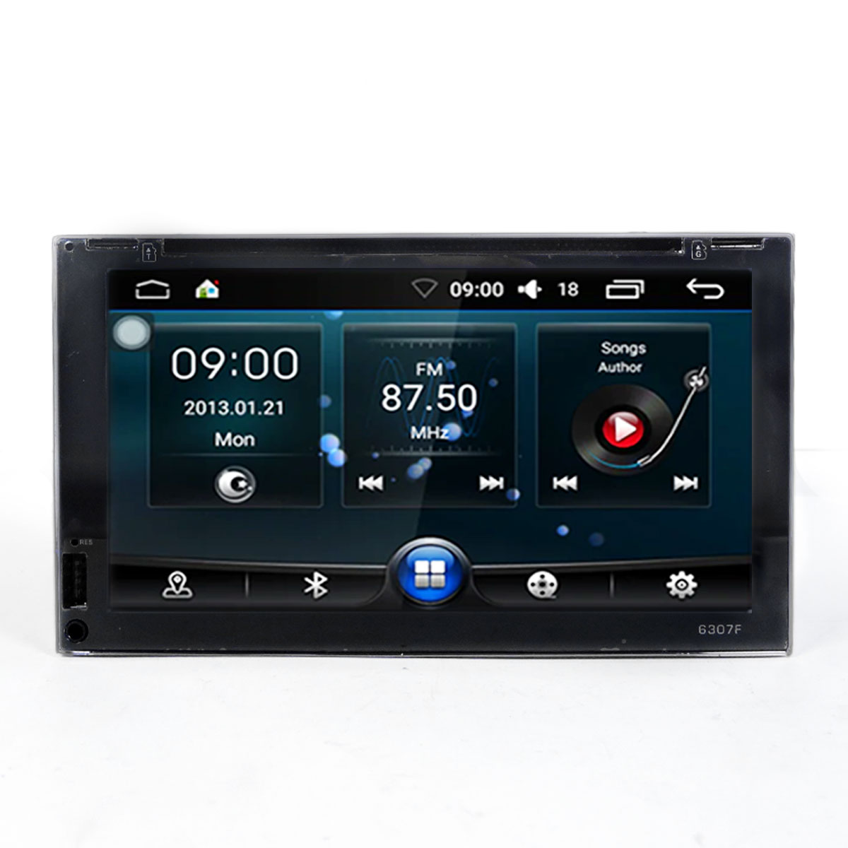 Autoradio 2 doppio din Android 8.1 Touch 6,95 LED FHD DVD GPS BT WIFI Mirrorlink