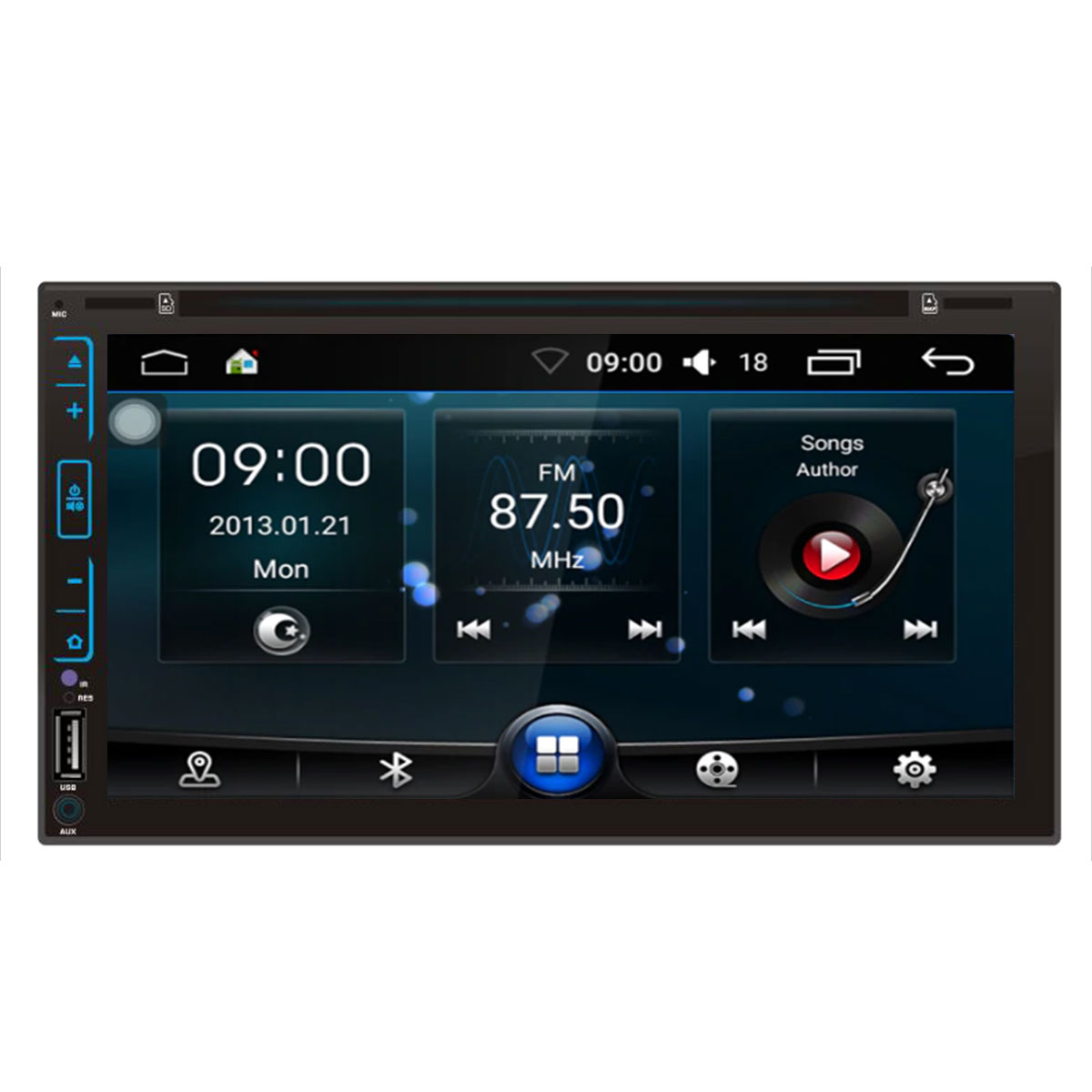 "Autoradio 2 doppio din Android 8.1 Touch 6,95"" LED FHD DVD GPS BT WIFI Mirrorlink"