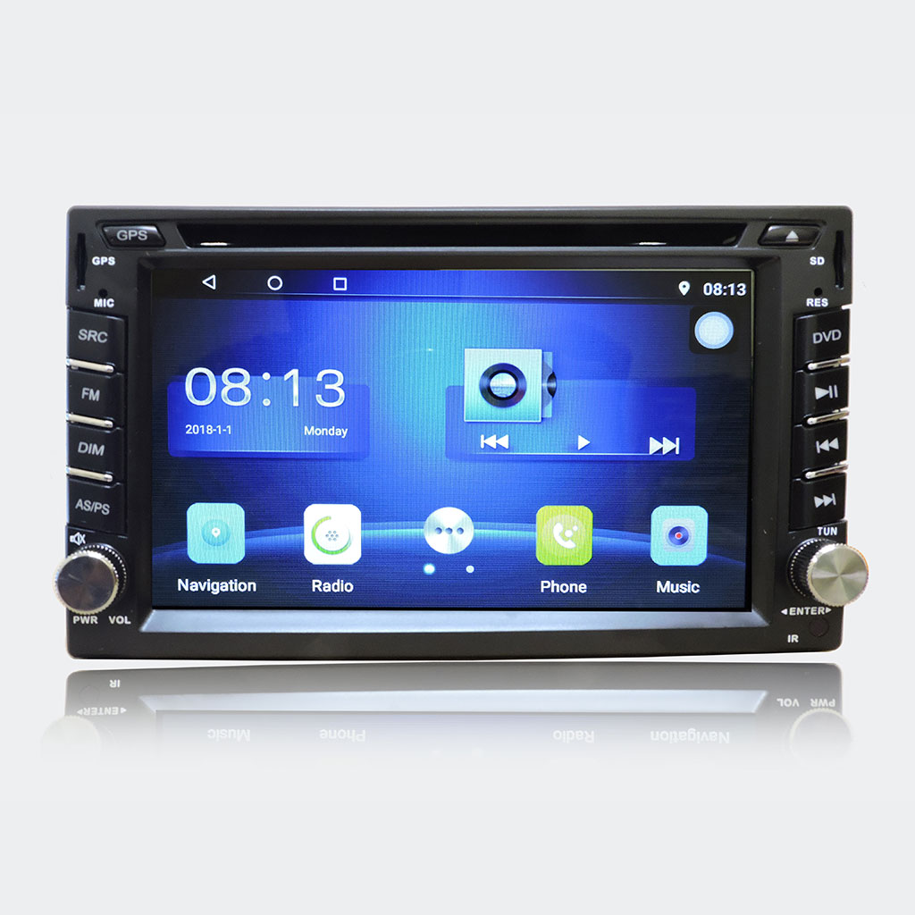 "Autoradio 2 doppio din Android 8.1 Touch 6,2"" LED FHD DVD GPS BT WIFI Mirrorlink"