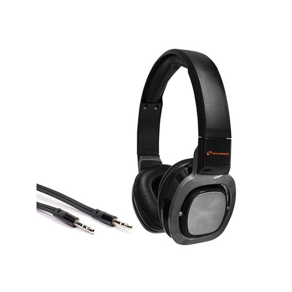 CUFFIE + MICROFONO 3,5MM TECHMADE TM-H006-BK BLACK