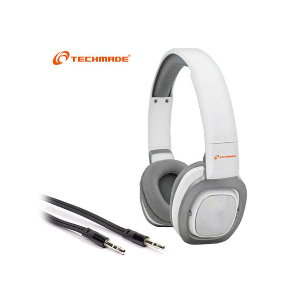 CUFFIE + MICROFONO 3,5MM TECHMADE TM-H006-WH WHITE
