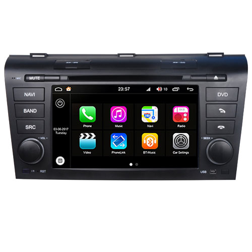 "Autoradio Mazda 3 2004-09 Android 8.0 Touch 7"" DVD GPS USB Bluetooth WIFI S200"
