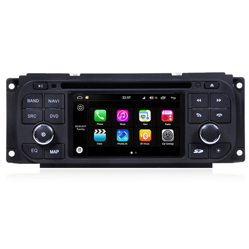 "Autoradio Chrysler Grand Voyager 2002-06 Android 8.0 Touch 4.3"" HD BT WIFI S200"