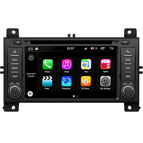 "Autoradio Jeep Grand Cherokee da 2011 Android 8.0 Touch 7"" HD DVD GPS WIFI S200"