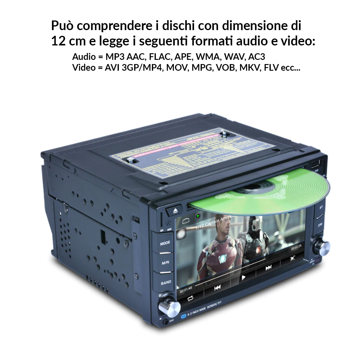 autoradio con display touchscreen capacitivo