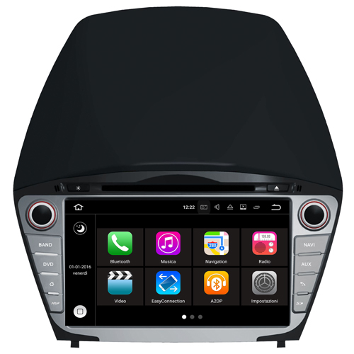 "Autoradio Hyundai Tucson 2014 Android 7.1 Touch 8"" HD USB DVD GPS SD WIFI S190"