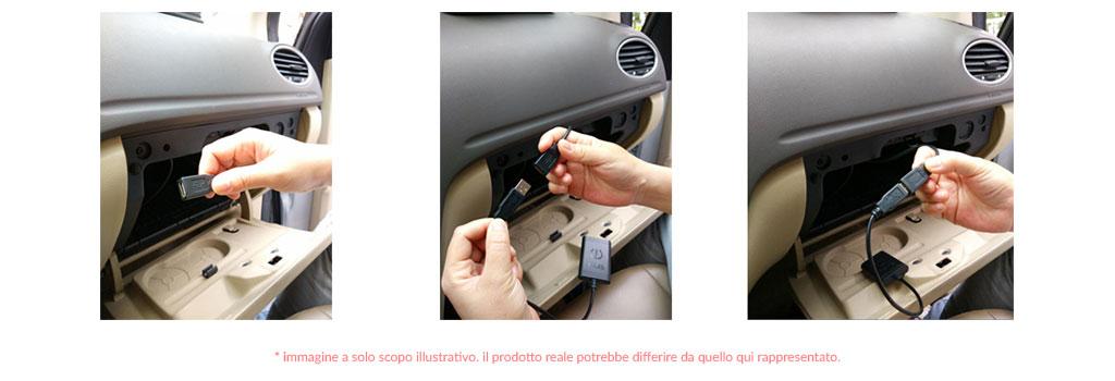 connessioni autoradio fiat 500 L