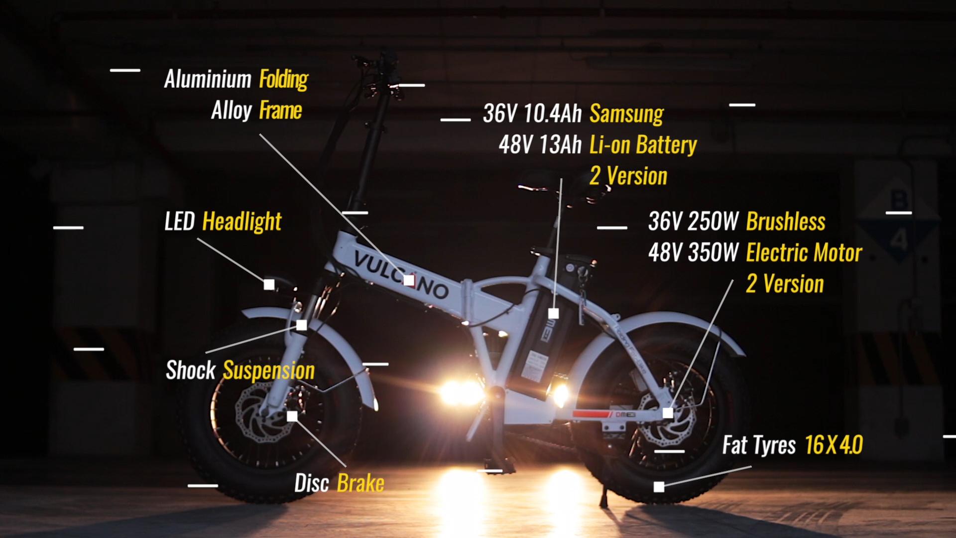 fat-bike elettrica 250 watt