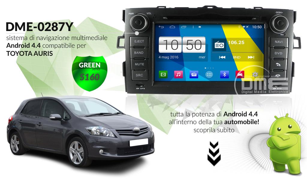autoradio multimediale per Toyota Auris