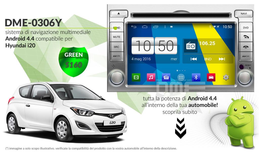 autoradio multimediale per Hyundai i20
