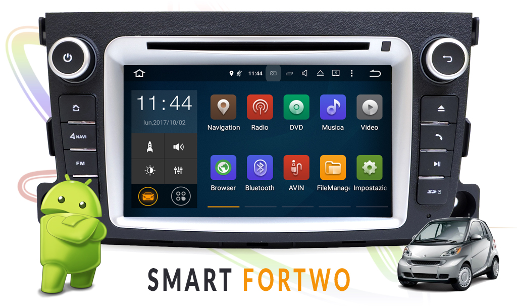 autoradio multimediale per SMART For Two