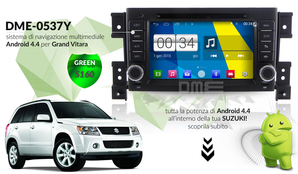 autoradio multimediale per Suzuki Grand Vitara