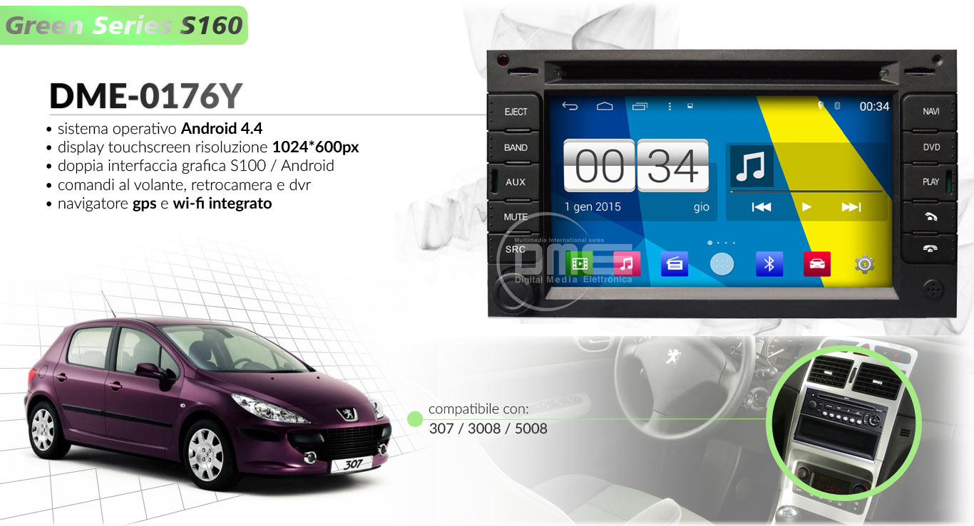 autoradio multimediale per Peugeot 307