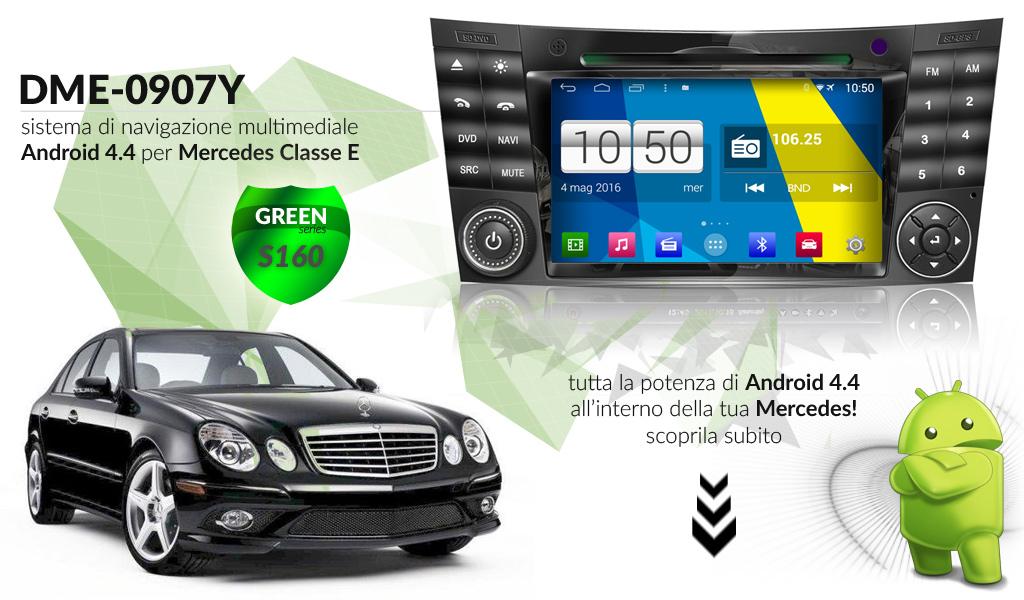 autoradio multimediale per Mercedes Classe E