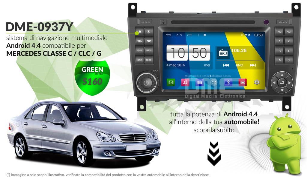 autoradio multimediale per Mercedes Classe C / CLC, G