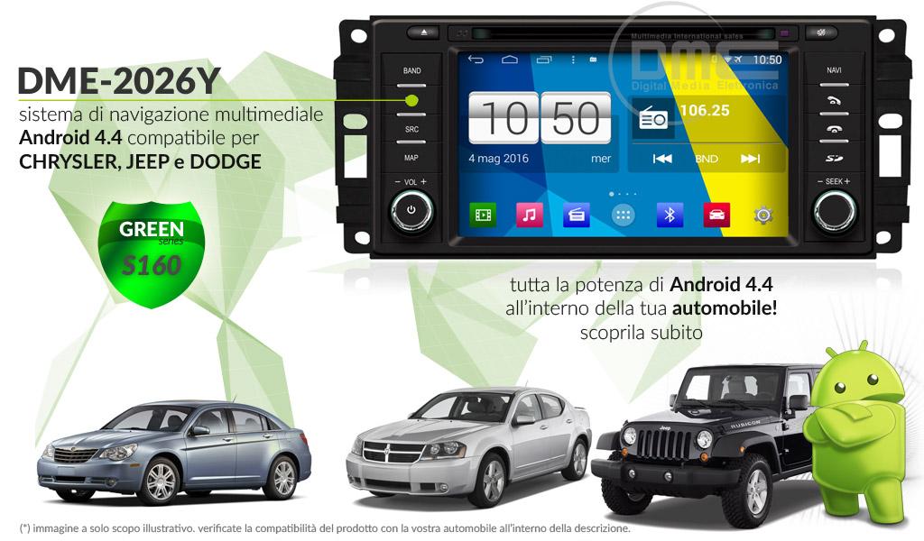 autoradio multimediale per Chrysler, Dodge e Jeep (vari modelli)