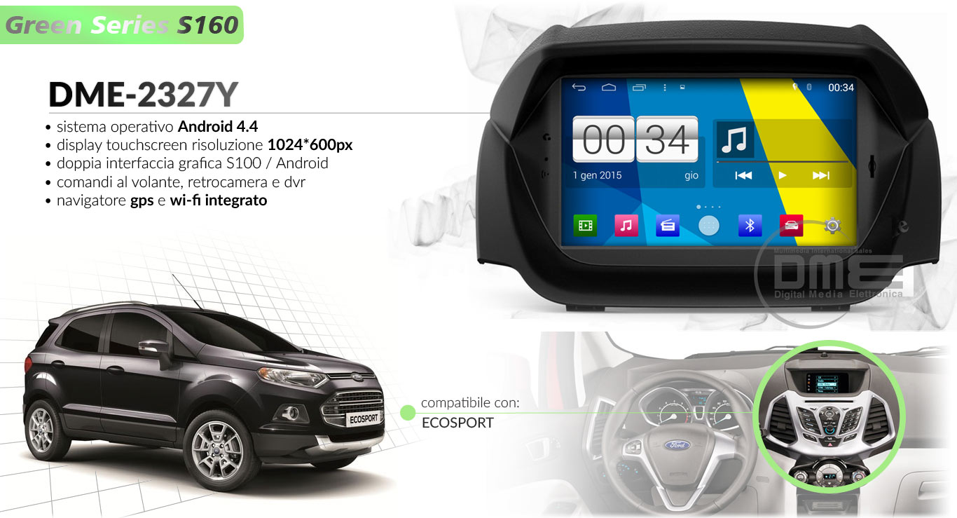 autoradio multimediale per Ford Ecosport
