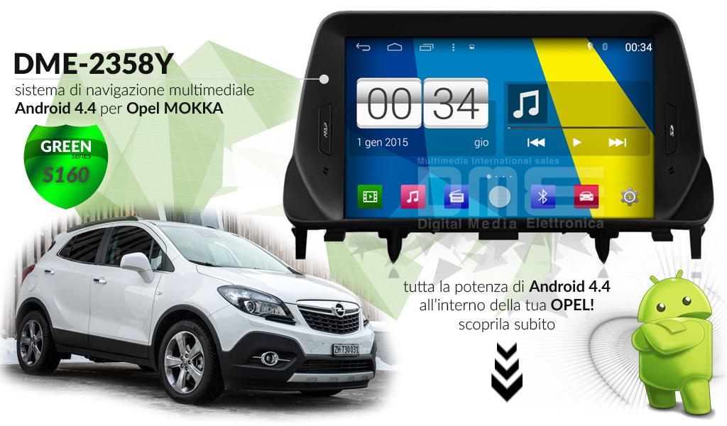 autoradio multimediale per Opel Mokka